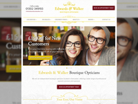 Edwards and Walker Opticians website