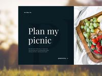 Plan My Picnic: Header Concept