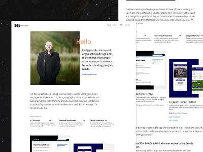 (Portfolio) Home Page Update grid clean site uxd interface home page page portfolio design product layout ui design website