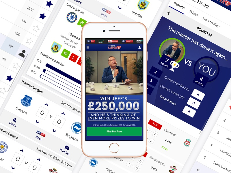 Sky Sports Super 6 (Soccer Saturday) icon ui ios skysports football sport apple design app design branding