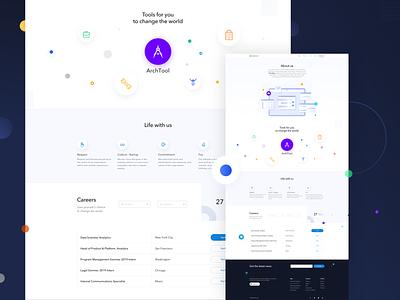 Building Software website app vector shadow elegant digital layout simple clean app landing minimal juicy gradient flat uidesign colors clean blue ui illustration