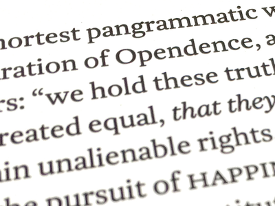 Untitled text face: another (print) test with revised small caps