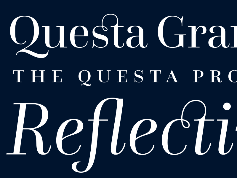 Questa sans font typeface family by the questa project — try.