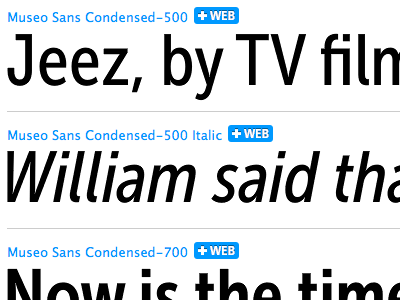 Museo Sans Condensed released
