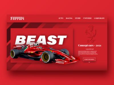 Ferrari landing page design