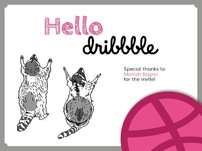 Hello dribbble! design illustration first shot hello dribble debut