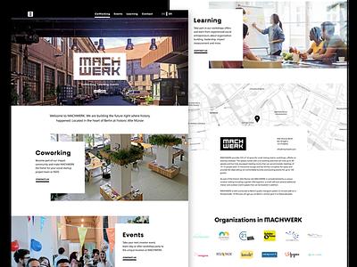 Landing Page MACHWERK website landing page web design ui