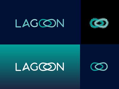 Lagoon Logo Redesign Fintech Startup vector typography logo branding design