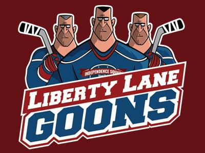 Hockey Goons hockey logo character design