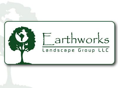 Earthworks Landscape Logo logo branding
