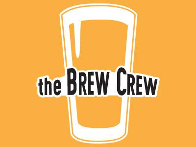 Brew Crew Logo beer sticker logo
