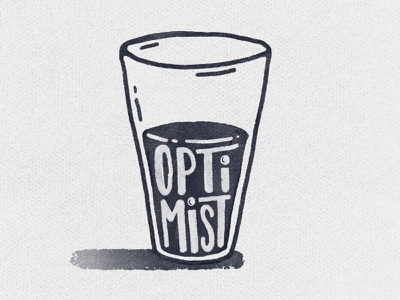 The Optimist Cup lettering graphic design design typography type illustration