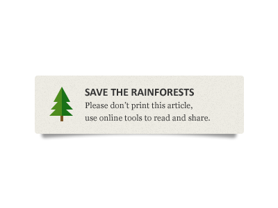 Save the Rainforests ecology tree