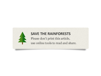 Save the Rainforests