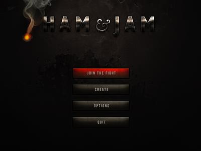 Ham Jam game ui interface grunge minimal menu
