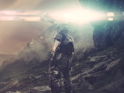 What Lay Ahead matte concept photoshop personal game wallpaper photomanipulation