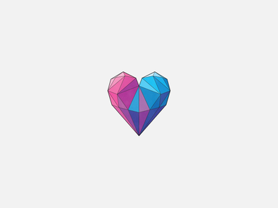 <3 heart geometric facet