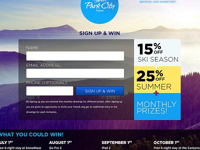 Park City Travel web web design light