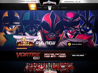 Power Rangers web web design