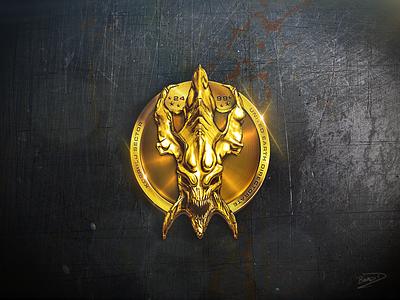 Zerg Skull Coin game zerg starcraft photoshop 2d coin gold