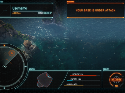 Naval HUD scifi naval futuristic ui game hud