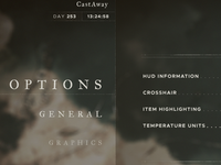CastAway (Stranded Deep) options nautical grunge ui game