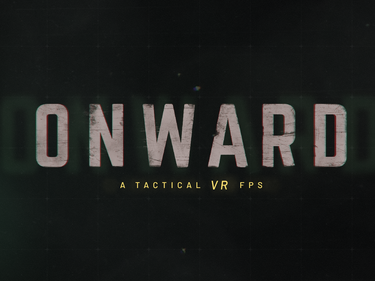Onward design minimal military games distressed logo branding vr logotype