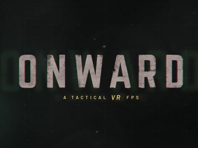 Onward design minimal military games distressed logo branding vr logotype