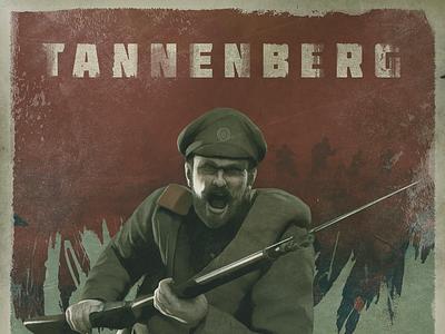 Tannenberg - The Eastern Front world war 1 distress propaganda great war military ww1 poster design illustration logotype game