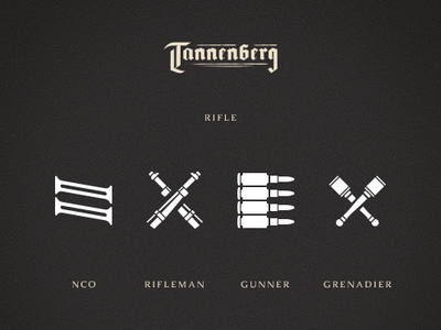 Rifle Classes ui military world war wwi icons design game
