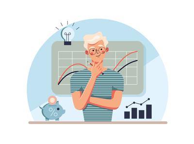 Bussines analytic flat illustration vector money idea analysis analitycs business vectorart vector illustration adobe illustrator illustration