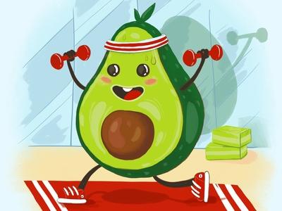 Avocado fitness fruit