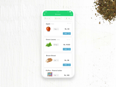 UX for Groceries- AListing page Design product page listing e-commerce design product animation interaction ui ux
