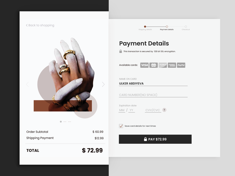 Daily UI 002 Credit Card Checkout uxdesign webdesign 002 daily ui 002 payment page card payment payment form card checkout form checkout page flat ui daily ux design ui design uxui dailyuichallenge dailyui dailyui 002 credit card checkout