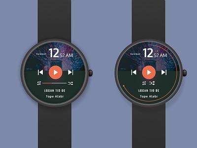 Figma Africa Design Challenge watch app watch ui ui design music music app figmaafrica figmadesign figma