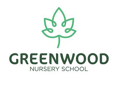 Greenwood Nursery School Brand illustration logo inspiration design logos brand logo design logo-design brand identity branding-design branding