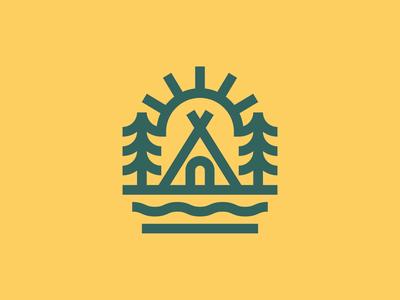 Camp simplicity minimal monoline bauhaus staybold thicklines outdoor minimalism logo