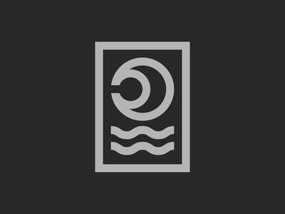 Moon / Sea graphicdesign outdoorbadge badge outdoor retro nature lines staybold monoline linework linedesign minimal simplicity illustration logo minimalism bauhaus
