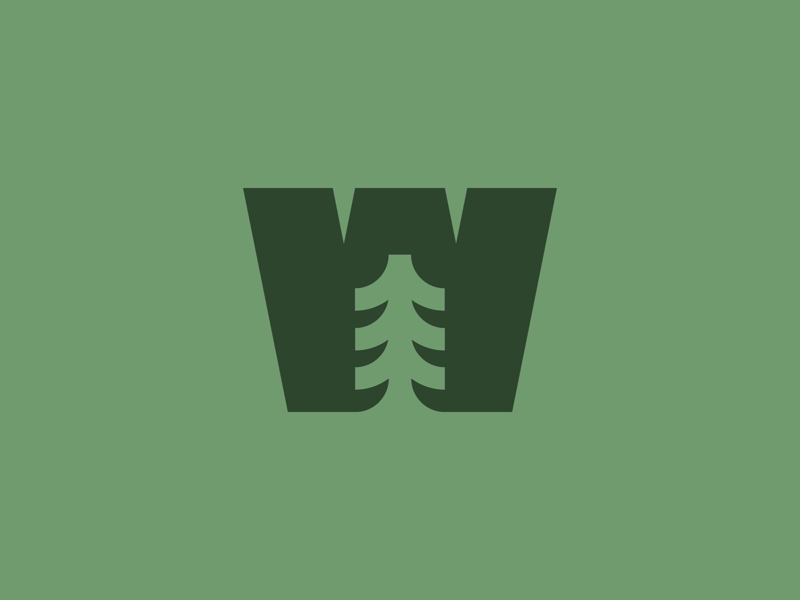 W for Wald / Woods staybold logomaker graphicdesign negativespace illustration logodesign logo