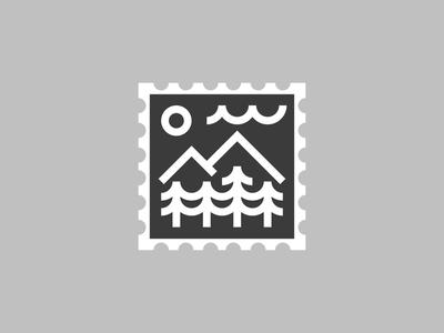 Outdoor Postage Stamp Design