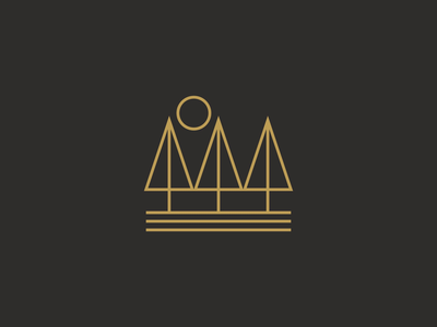 2 / 4 Nature Scene simplicity minimal minimalism graphicdesign logos linedesign monoline