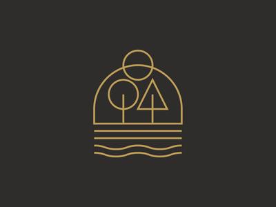 3 / 4 nature scene logodesign logos staybold graphic graphicdesign minimalism monoline logo