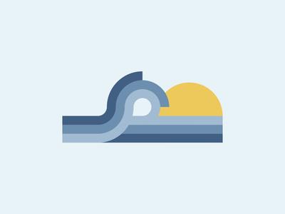 Wave / Welle graphicdesign minimalism staybold illustration vintagedesign retrodesign