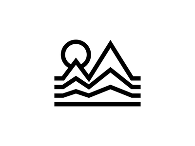 Mountains minimalism bold stay bold thick lines monoline icon graphic