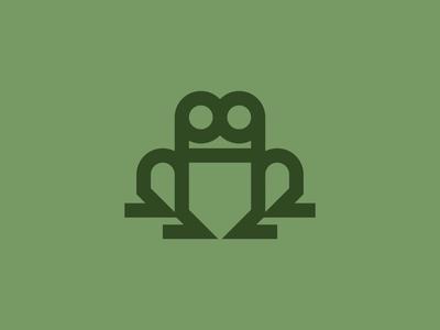 Frog thicklines staybold bold form simplicity bauhaus minimalism monoline