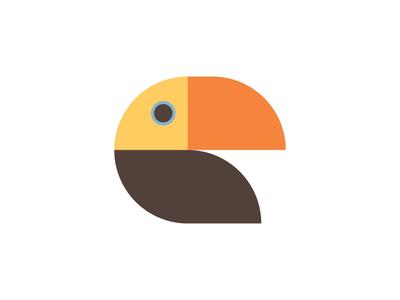 Tucan simple icon design logo animal staybold bold thicklines simplicity form bauhaus graphic