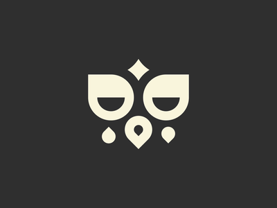 Owl bold thicklines staybold graphic form minimal minimalism bauhaus simplicity owl