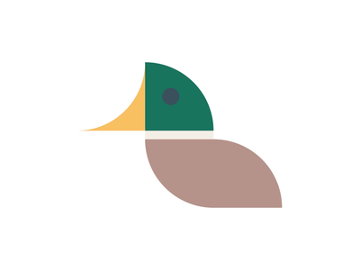 Duck geometric form bold minimal simplicity minimalism bauhaus