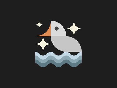Goose at night graphicdesign icondesign logo icon simplicity staybold bold geometry basic shapes minimalism bauhaus