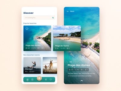 Noirmoutier's Beaches App mobile web activites island blue holidays beaches design application ux ui